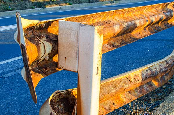 Rusty guard rails